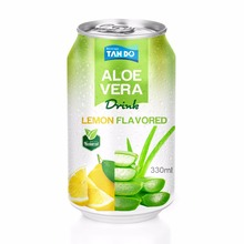 Private Label of Pure Aloe Vera Drink with Pulp - Lemon Flavor