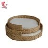 Round Water Hyacinth Pet Bed/ Dog Cat Pet Products/ Pet Supply