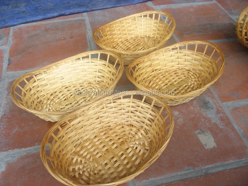 Vietnam straw basket bamboo bread basket