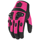 Pink Black Hard Armour Motorcross Gloves.
