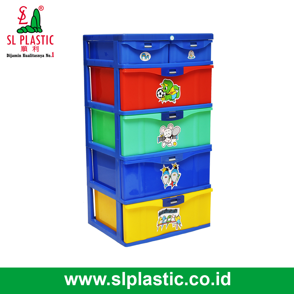 102 Deluxe Container 4Drawers . New Style . Colorfull Wardrobe for Kids . New Design . 6 Drawers Container