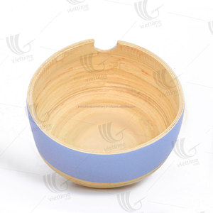 Unique spun bamboo salad bowl wholesale/ natural bamboo bowl
