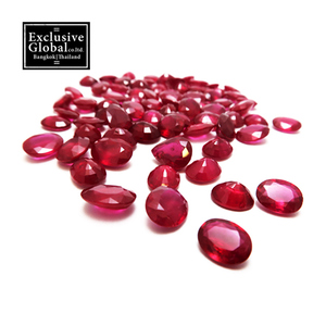 Natural Red Ruby Mixed Oval Cut Gemstone 75 Pcs Wholesale Lots