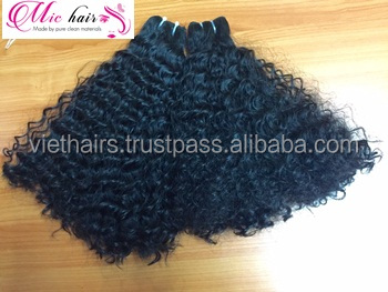 unprocessed vietnamese virgin remy human hair weft wavy cheap human hair weft