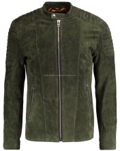 Lamb Suede Motorbike Jacket Genuine Leather Jacket Men Low Price
