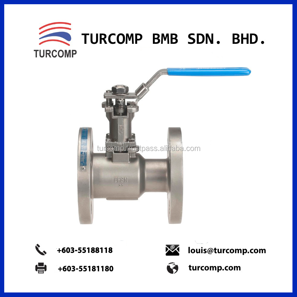 Stainless Steel Heat Resistant JAMESBURY STANDARD BORE BALL VALVE