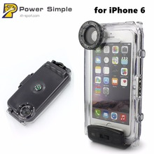 IPX8 40M 132ft Hard Housing Underwater Diving Waterproof Phone Case for iPhone 6 6s