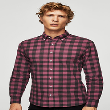 Checked and new design casual shirt 100% organic cotton fabric
