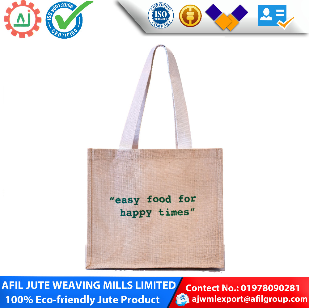 2016 new design reusable jute shopping bagor ladies shoulder bag/Wholesale Manufacturer Jute Tote Bag