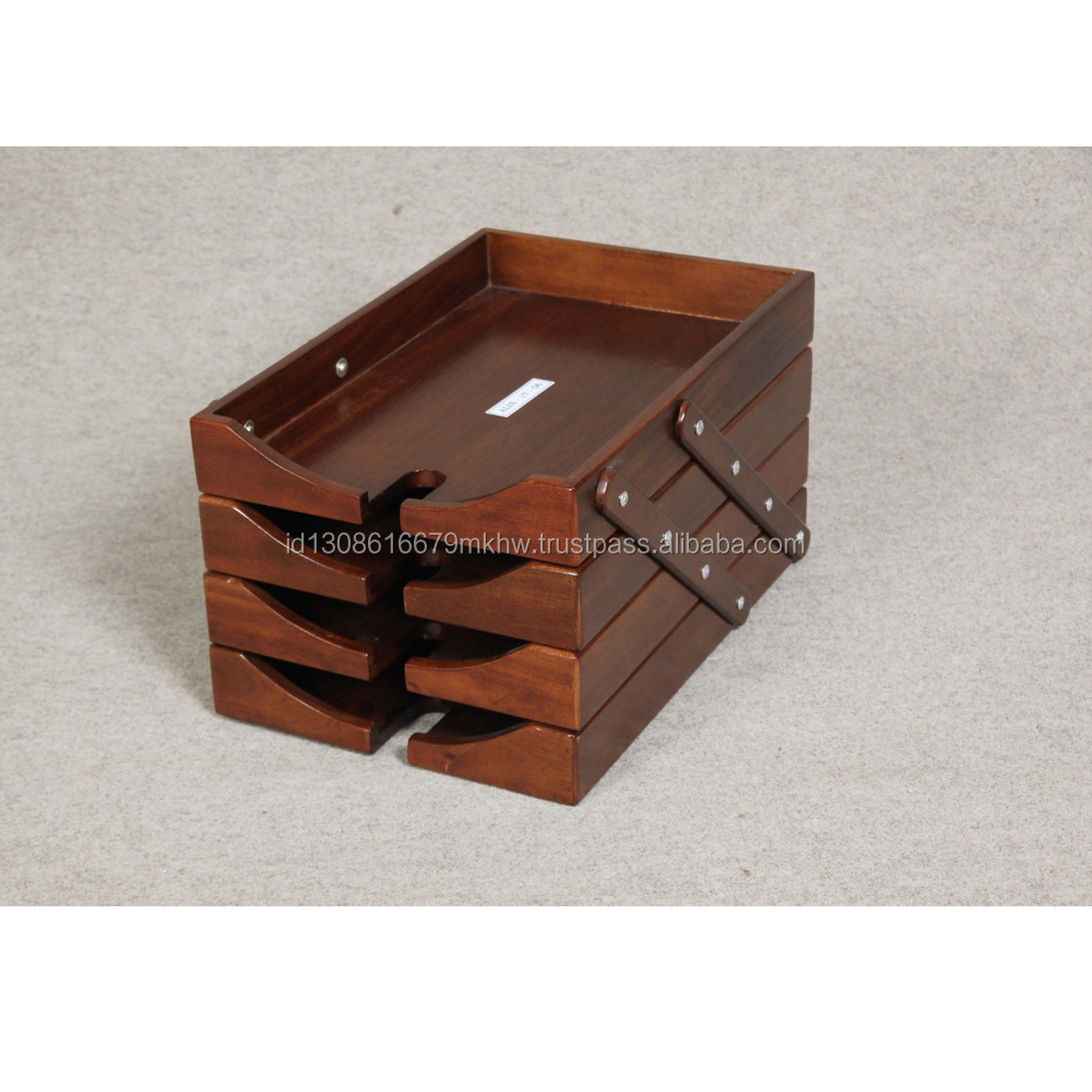 high quality wooden stacy file tray