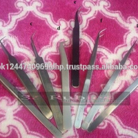 New style colorful stainless steel women false eyelash tweezers