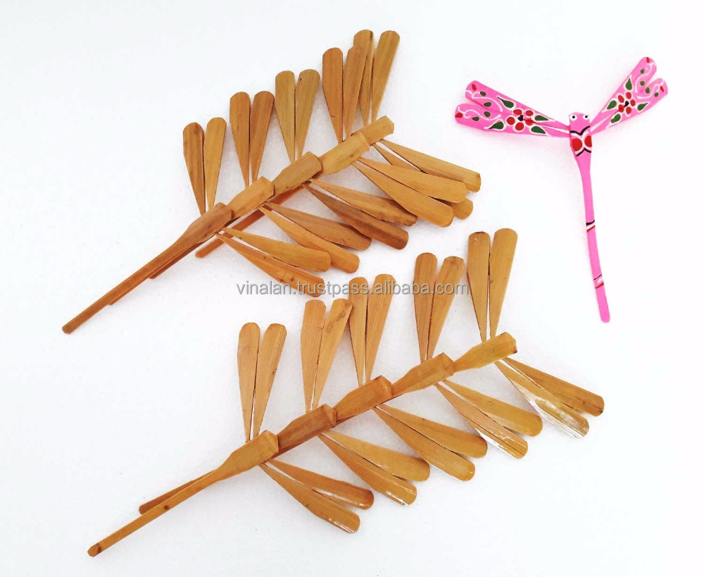 Unpainted Bamboo Dragonfly for gifts, cheaper wedding gift for guest