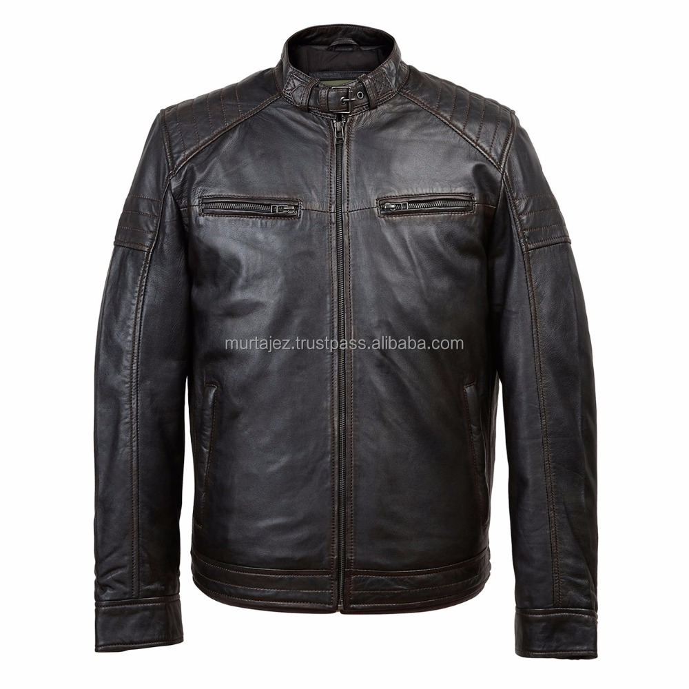 Gents Leather jacket Black Budd