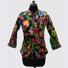 Indian vintage western quilted coat reversible women jacket for party wear