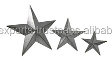 Wall Hanging Galvanized Metal Star Set of 3 pieces