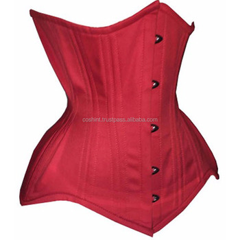676 Red Cotton more Curvier Short Regular Extended Length Steelbones waist training custom Corsets