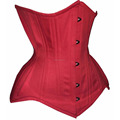 Red Cotton more Curvier Short Regular Extended Length Steelbones waist training custom Corsets