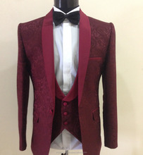 High Quality Stylish 3 piece Men's Fit Wedding Groom Suit