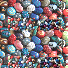GLASS BEADS FOR DECORATION AND JEWELLERY