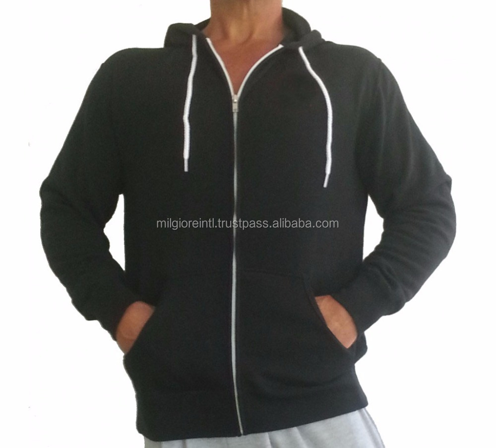 Wholesale china 60% cotton 40% polyester Plus Size custom hoodies for men