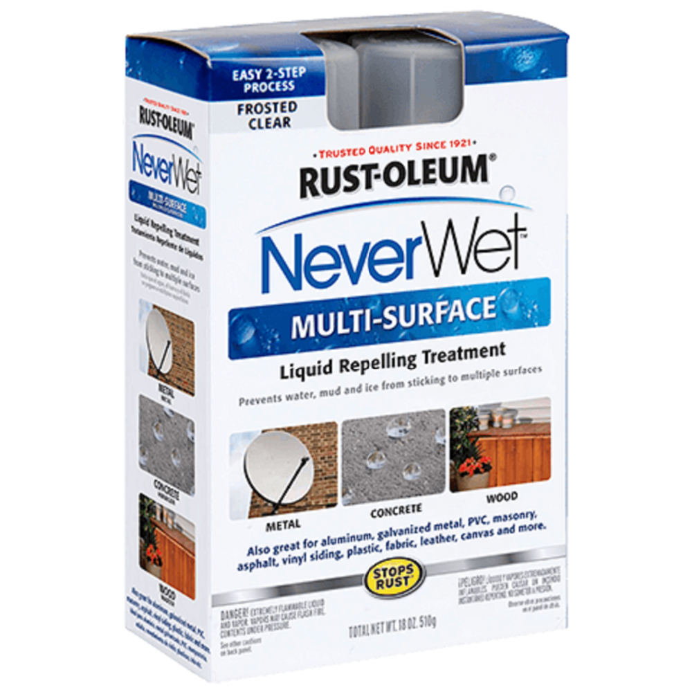 RUST - OLEUM NeverWet Multi - Surface - 274232 - Kit, Frosted Clear