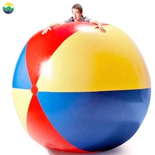 LC 6' Giant Inflatable Beach Ball, Extra Large Jumbo Beach Ball | Patch Kit Included