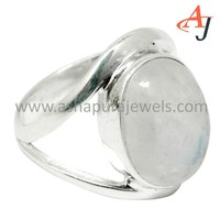 Women Gifted Rainbow Moonstone 925 Sterling Silver Indian Ring, Gemstone Silver Jewelry, Fashion Silver Jewellery