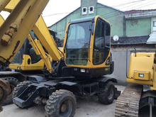 korea made used hyundai 60-7w wheel excavator for sale