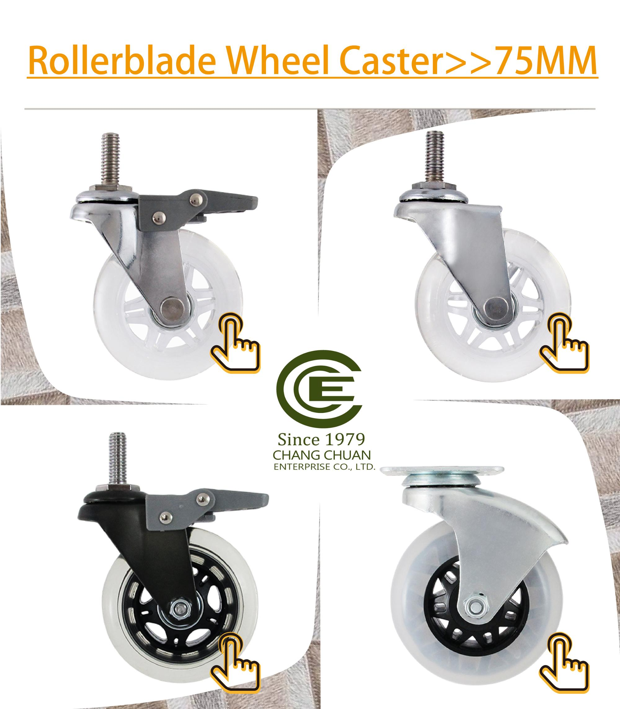 CCE Caster 3 Inch Trolley Polyurethane Wheel With Ball Bearing Casters