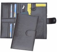 LEATHERETTE PASSPORT & TRAVEL WALLET