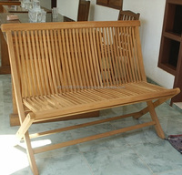 High quality Simple Folding Teak outdoor Wooden Garden Bench made in Indonesia