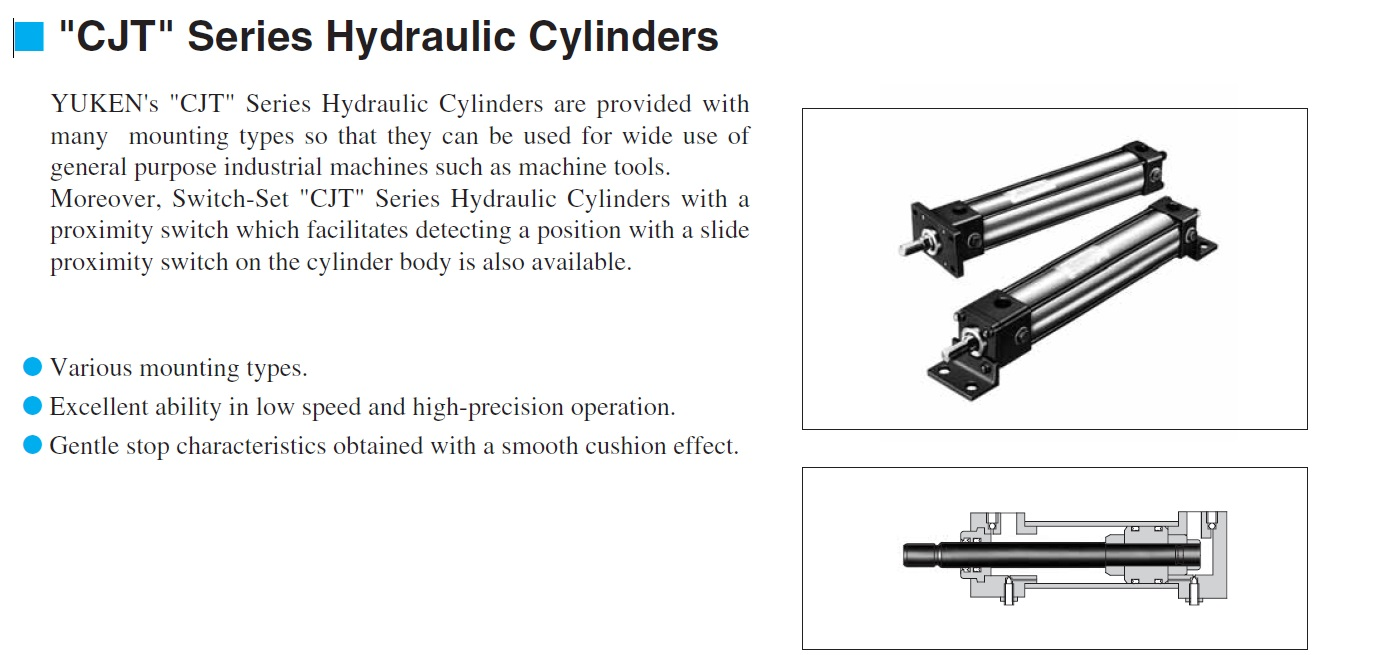 Japan different types hydraulic cylinders with various mounting types
