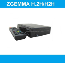 UK/Ireland Hot Sale Zgemma H.2H FTA Satellite/Cable Receiver Linux OS Dual Core With DVB-S2+T2/C Twin Tuners At Wholesale Price.