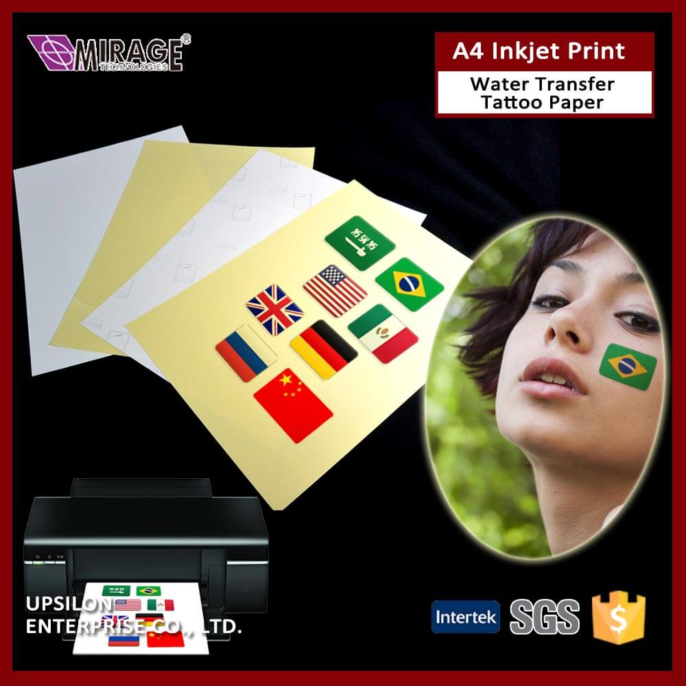 Wholesaler A5 Inkjet Temporary Tattoo Water Transfer Paper