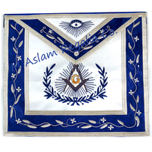 Grand Past Master Apron with Embroidered Border , Blue Lodge Master apron