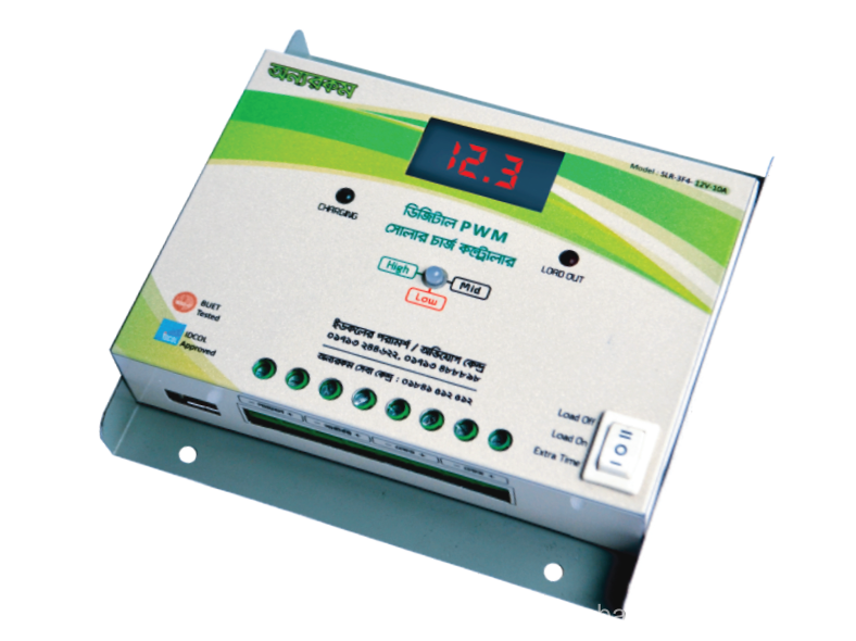 12V/24V 10A/20A Solar Charge Controller with USB and SSD Display