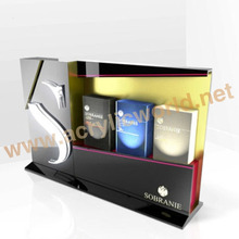 acrylic cases for cigarette display with led light