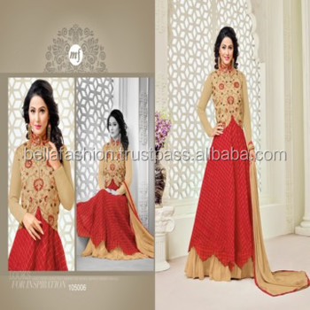 Indian and Pakistani Beautiful Wedding and Party Wear Embroidery Designer Straight Suits