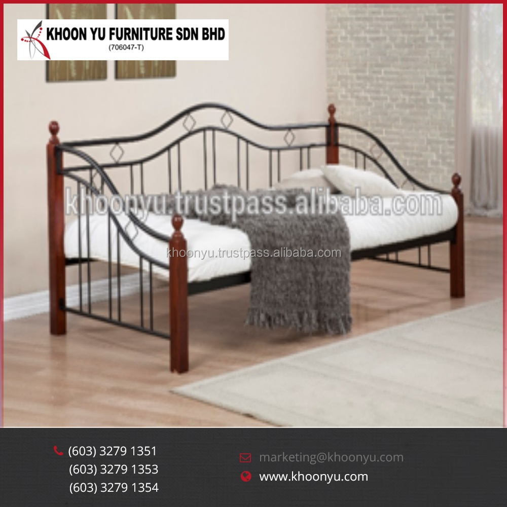Hot Sell Promotion Modern Metal Wooden Day Bed Furniture manufacturer exporter