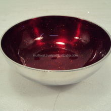 Aluminium Enameled Color Serving Bowl - Home Decor Gifts Accent