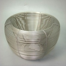 Pewter Powder Coated Iron Wire Bowl