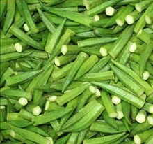 Bulk frozen okra vegetables and iqf frozen