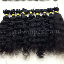 Raw unprocessed 100% cheap price virgin indian hair,Indian human hair,Natural raw indian hair from d2 impex