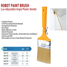 ROBOT PAINT BRUSH LUX-ADJUSTABLE ANGLE PLASTIC HANDLE BRUSH AND ROLLER BRUSHES