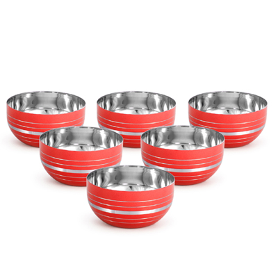 stainless steel mixing bowl set / salad bowl set / metal fruit bowl