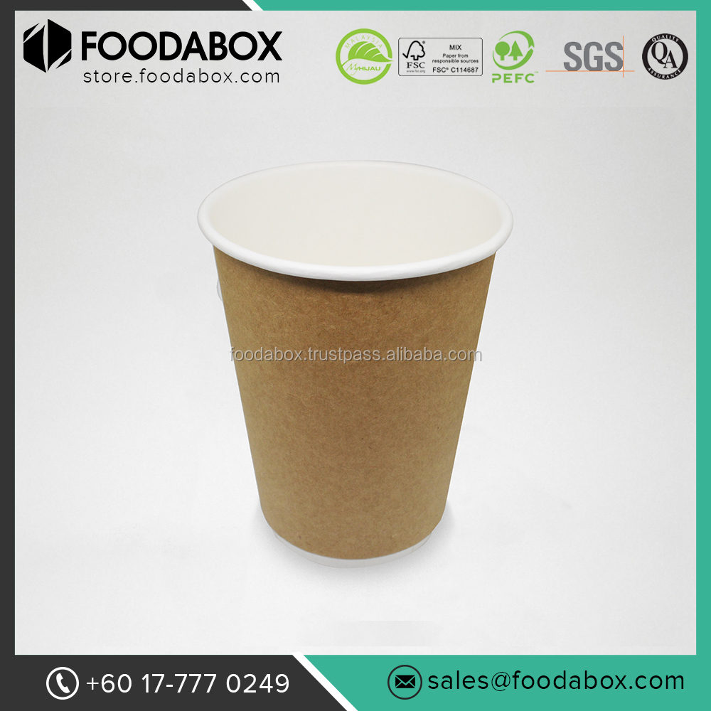 Excellent Quality and Affordable Double Wall Kraft Coffee Paper Cups
