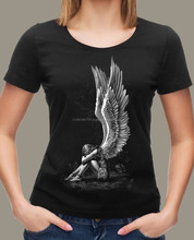 ladies direct to garment print t-shirt