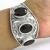 Vintage design smoky gemstone wide bangle 925 sterling silver jewelry bangles wholesale
