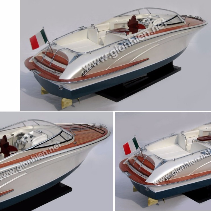 RivaRama Wooden Model Boat 100/% Solid Wood Plank on Frame RC-ready