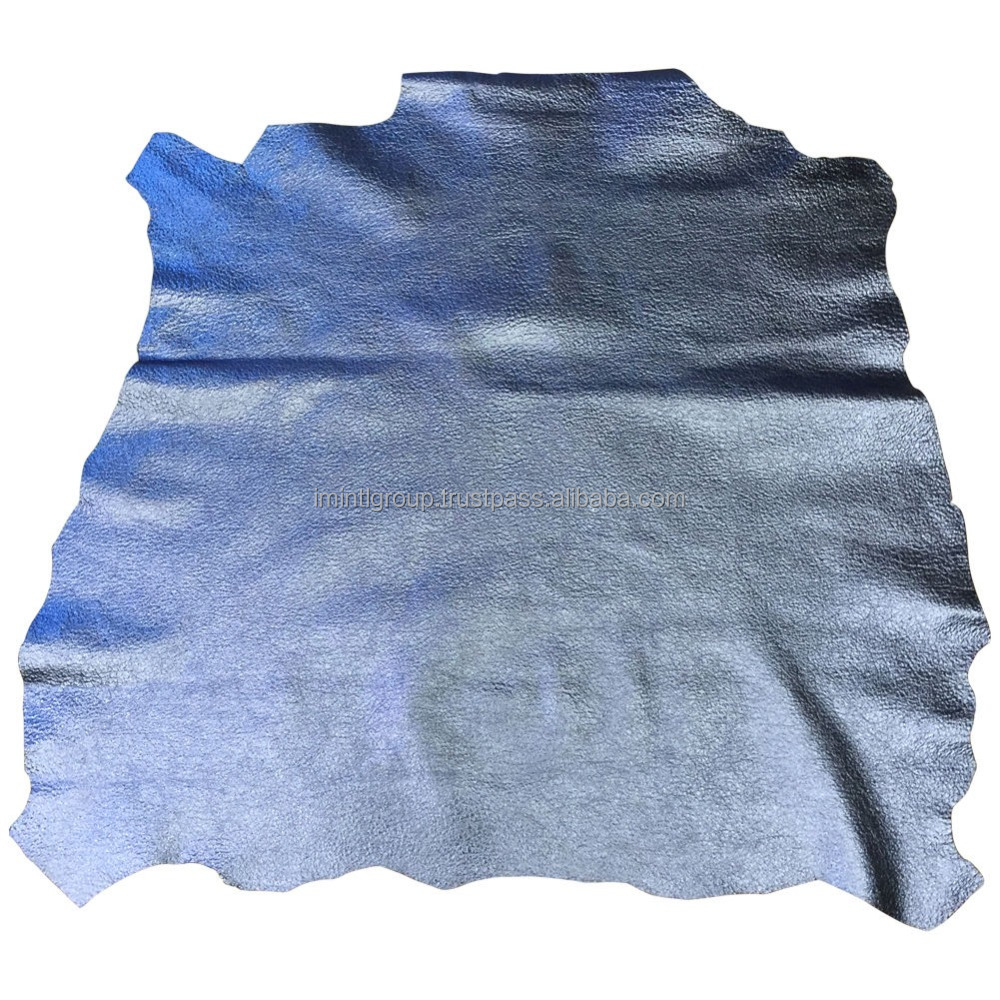 Blue Leather Hides Genuine Lamb Skin Skins Soft Upholstery Craft Material